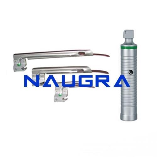 Miller Type Disposable Fibre Optic Laryngoscope Blade (Aluminium heel, SS Spatula)