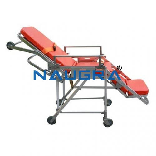 Stretcher Cum Wheel Chair Single Fold With 2 Wheels