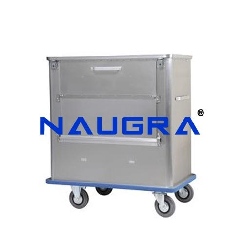 Trolley for Dirty Linen & Waste, S.S.
